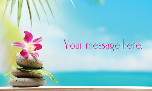 Orchid Spa and Massage Business Card - Design #601091
