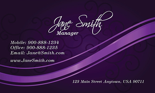 Purple Spa Salon Business Card - Design #601171