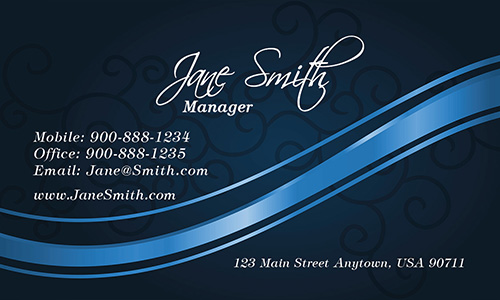 Blue Spa Salon Business Card - Design #601172