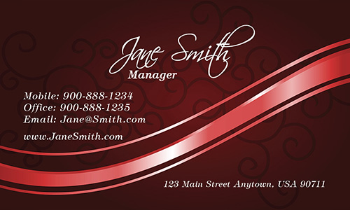 Red Spa Salon Business Card - Design #601175