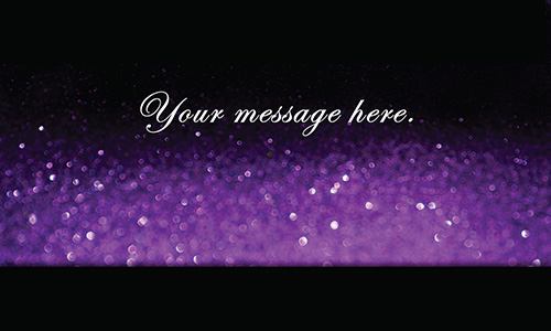 Makeup Artist Cosmetician Purple Beauty Glitter Business Card - Design #601181