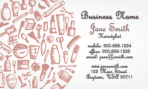 Scissors Hair Stylist Business Card - Design #601191