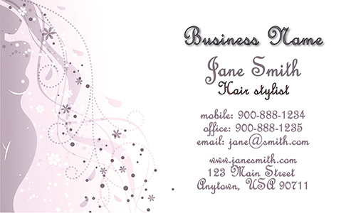Purple Beauty and Spa Business Card - Design #601281