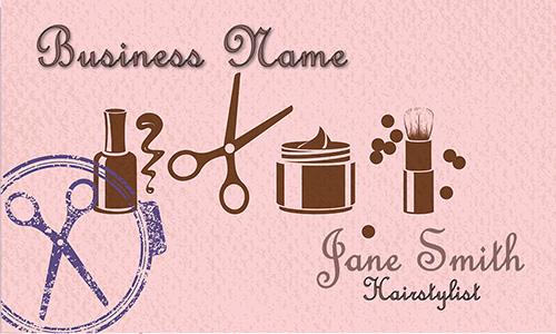 Letterpress Style Beauty Salon Business Card - Design #601291