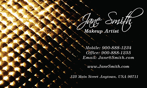 Steel Pattern Beauty Business Card - Design #601311