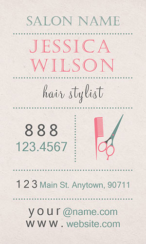 Pink Beauty and Spa Business Card - Design #601341