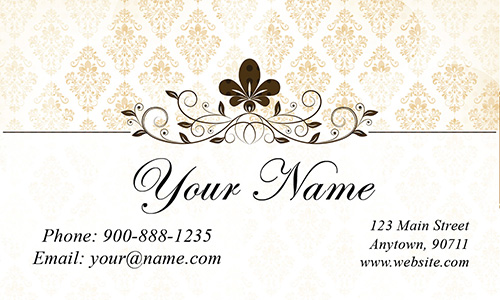Double Sided Wedding Business Card - Design #701061