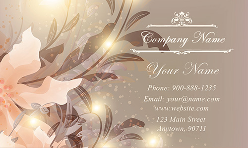 Sparkle Flower Wedding Business Card - Design #701151
