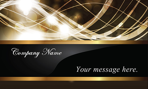 Glossy Effect Gold and Black Event Planner Business Card - Design #701191