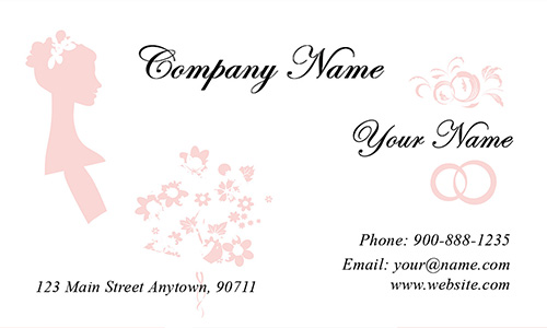 Bridal Gown Specialist Business Card - Design #701211