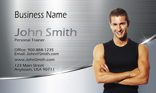 Certified Personal Trainer Business Card - Design #801011