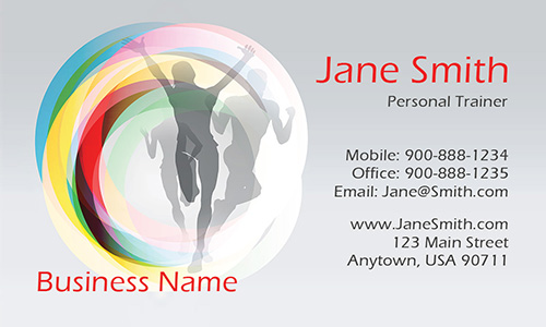 Health and Fitness Center Business Card - Design #801071