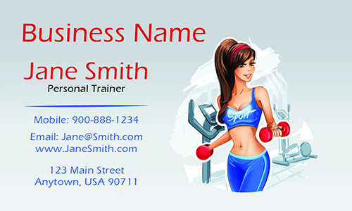 Women Personal Trainer Business Card - Design #801161