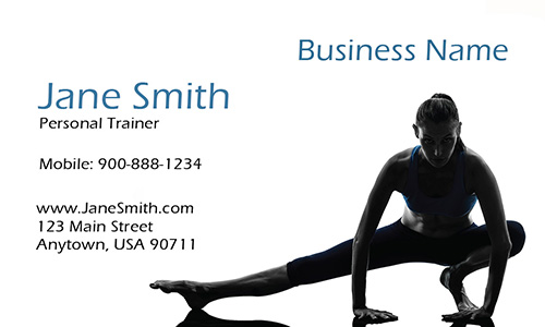 Women Strength Trainer Business Card - Design #801181