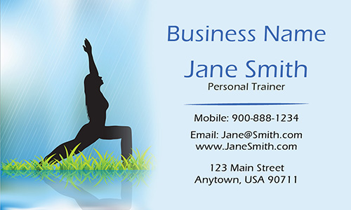 Sport Yoga Business Card - Design #801221