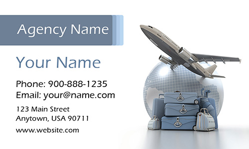 Travel Themed Tourism Business Card - Design #901031
