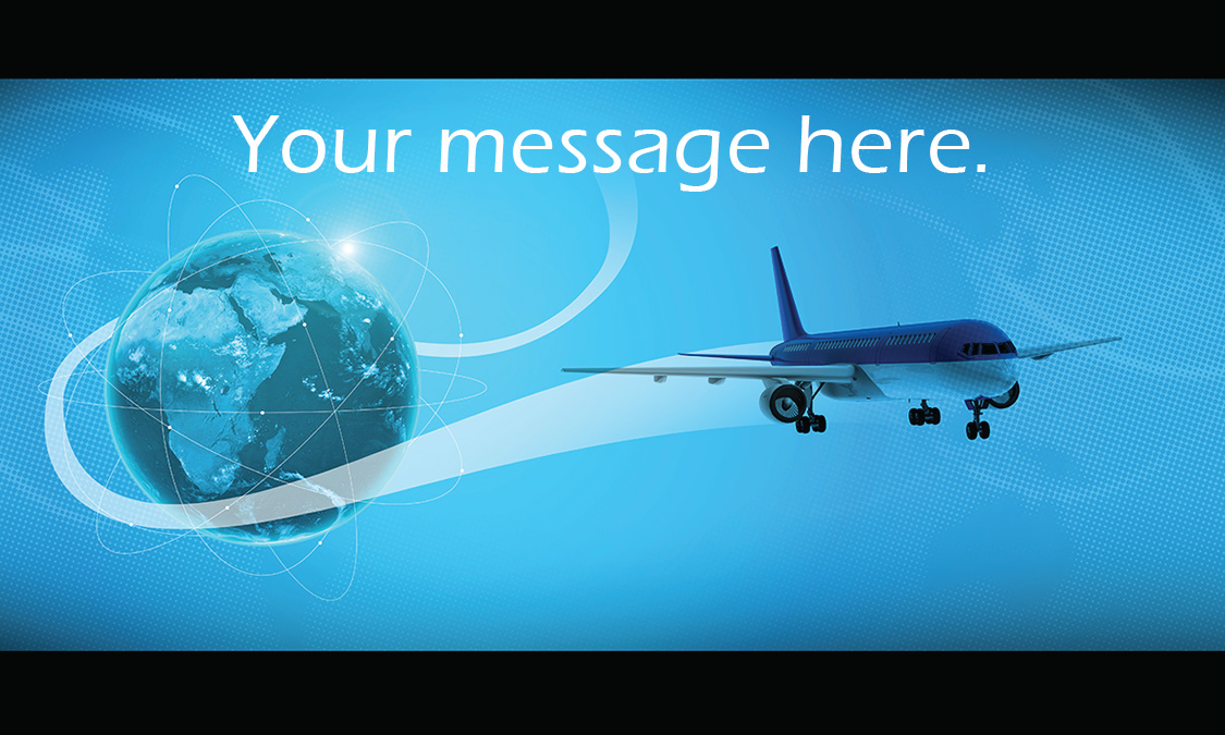 airplane and globe travel agent business card