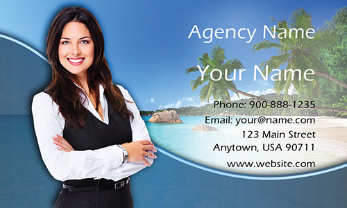 Exotic Travel Agency Business Card - Design #901141