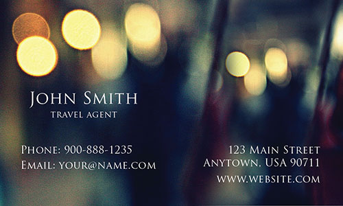 Double Sided Tourism Business Card - Design #901231